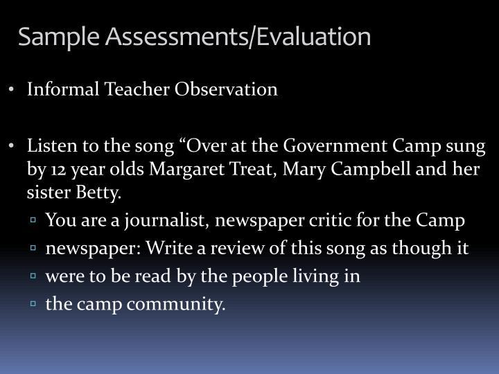 Informal Teacher Observation