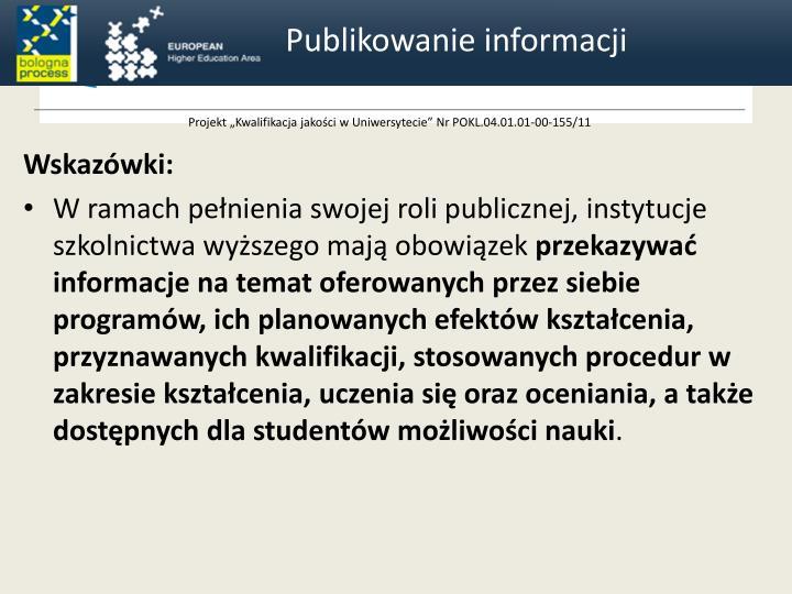Publikowanie informacji
