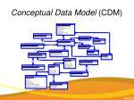 conceptual data model cdm