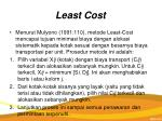 least cost