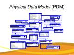 physical data model pdm
