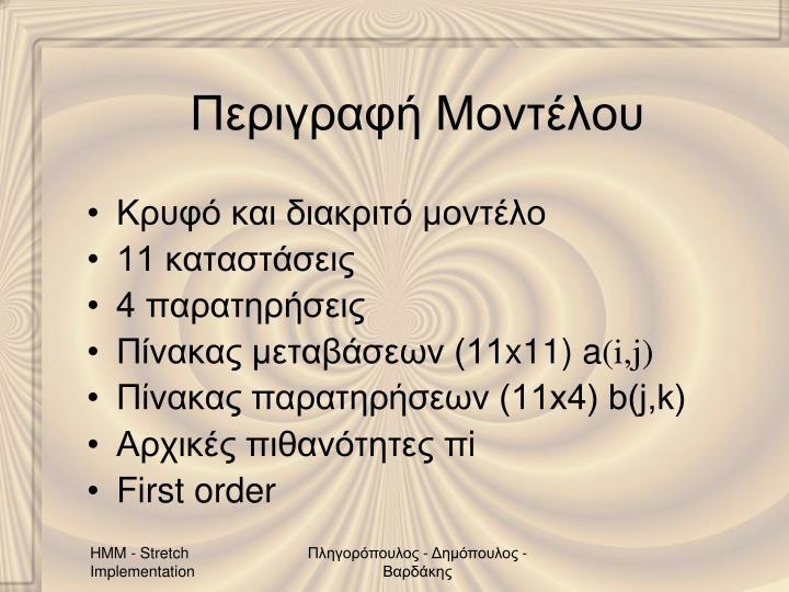 Περιγραφή Μοντέλου