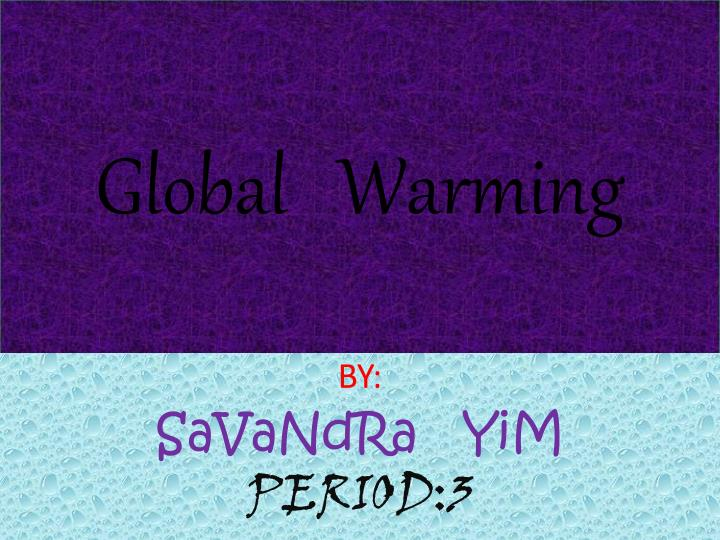 global warming n.