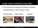large scale crowdsourcing effort