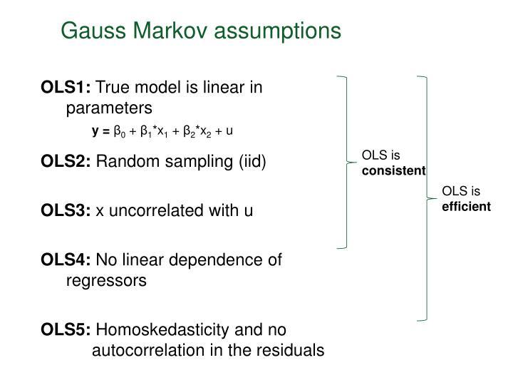 gauss markov assumptions n.