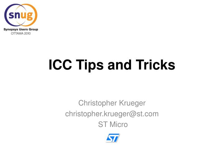 icc tips and tricks n.