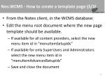 neo wcms how to create a template page 3 3