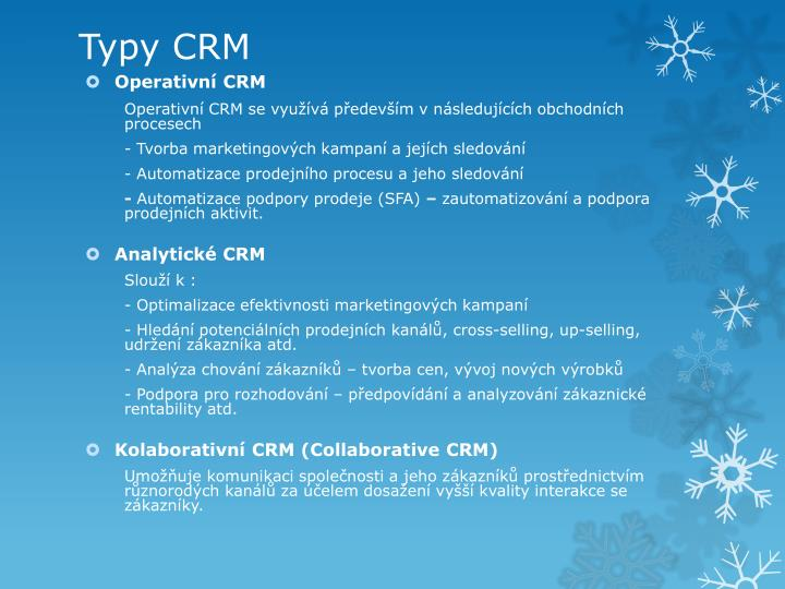 Typy CRM
