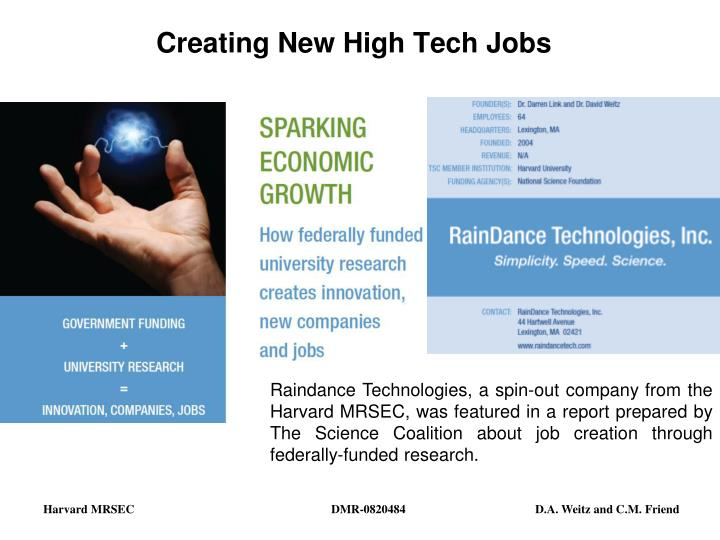 creating new high tech jobs n.