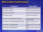 web config transformation