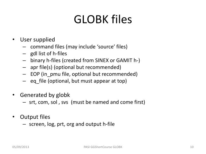GLOBK files