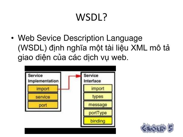 WSDL?