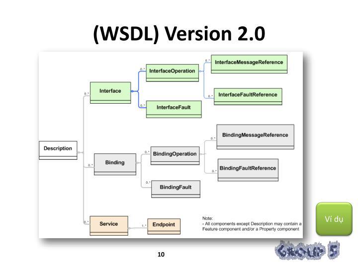 (WSDL) Version 2.0