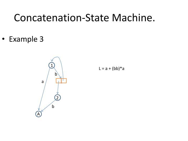 Concatenation-State Machine.