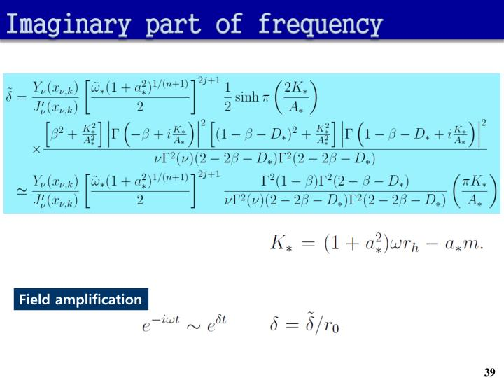 Imaginary part of frequency