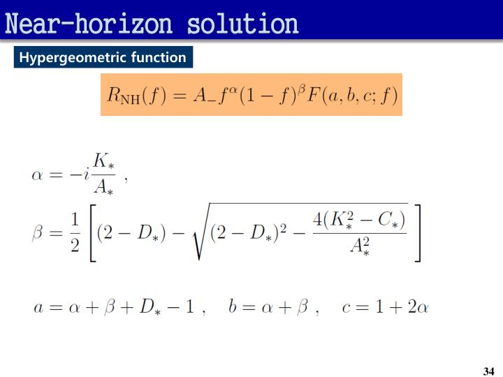 Near-horizon solution