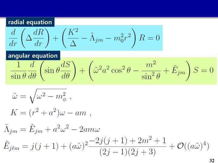 radial equation