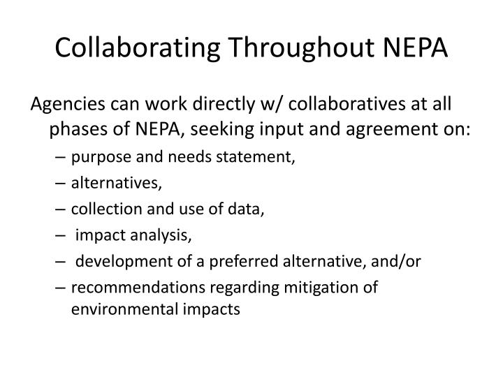 Collaborating Throughout NEPA