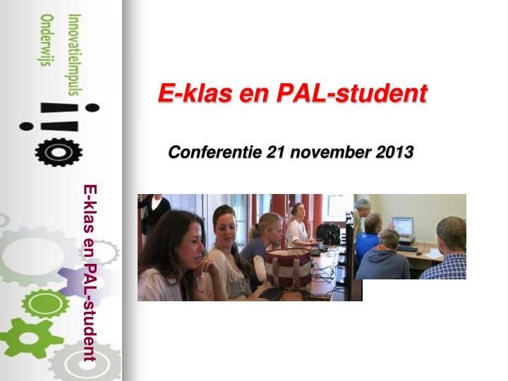 E-klas en PAL-student
