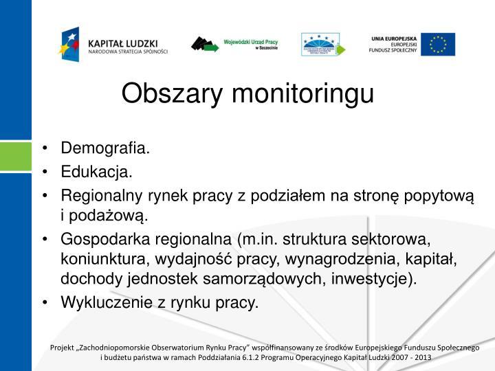 Obszary monitoringu