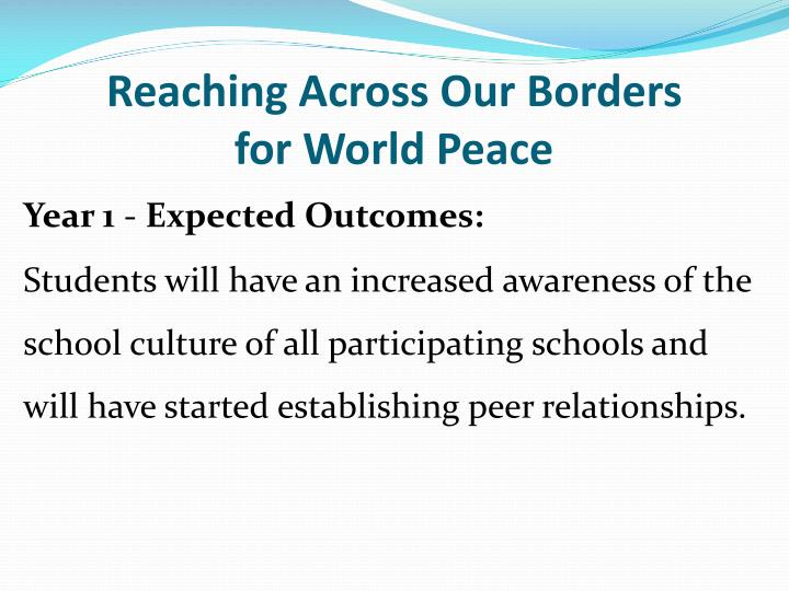 Reaching Across Our Borders