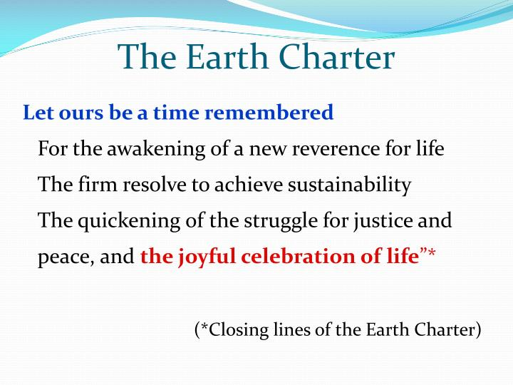 The Earth Charter