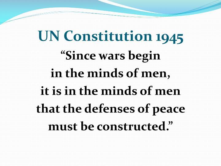 UN Constitution 1945