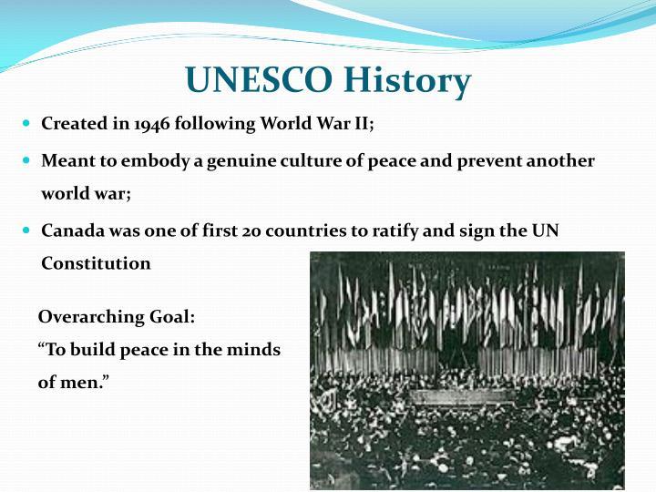 Unesco history