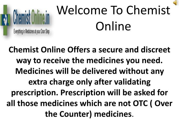 Welcome to chemist online