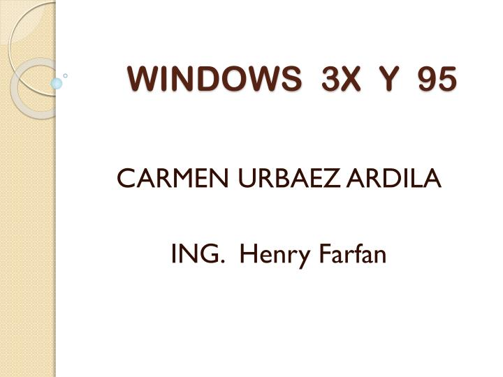 windows 3x y 95 n.