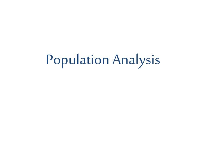 Population Analysis