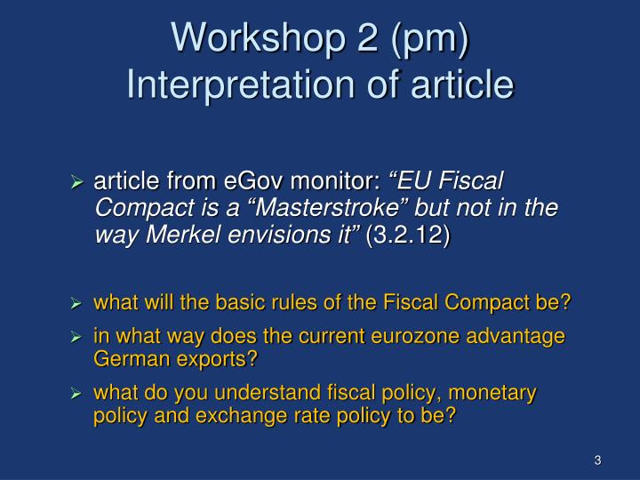 Workshop 2 pm interpretation of article
