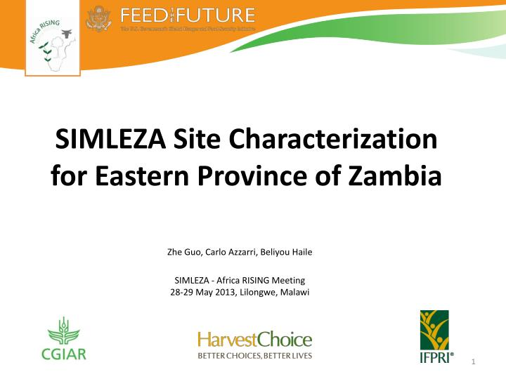 Simleza site characterization for eastern province of zambia