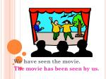 we have seen the movie the movie has been seen by us