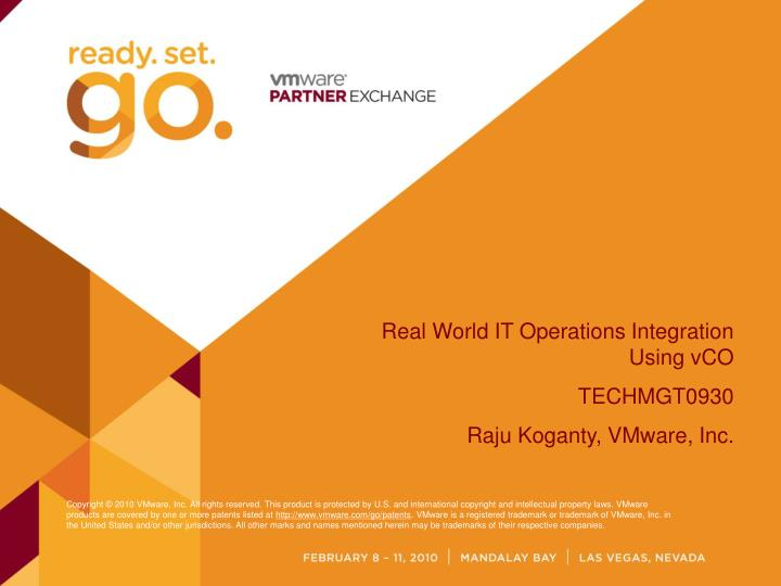 Real World IT Operations Integration