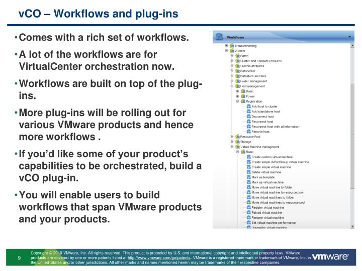 vCO – Workflows and plug-ins