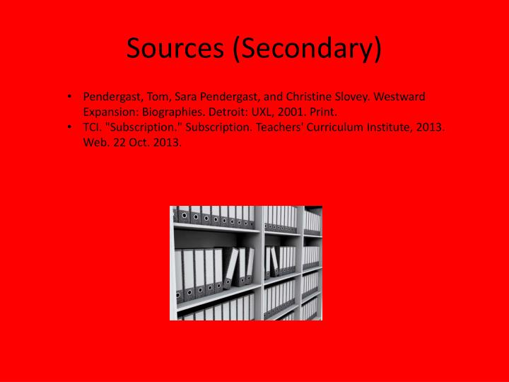 Sources (Secondary)