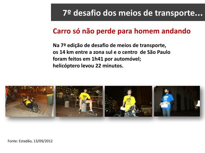 7º desafio dos meios de transporte