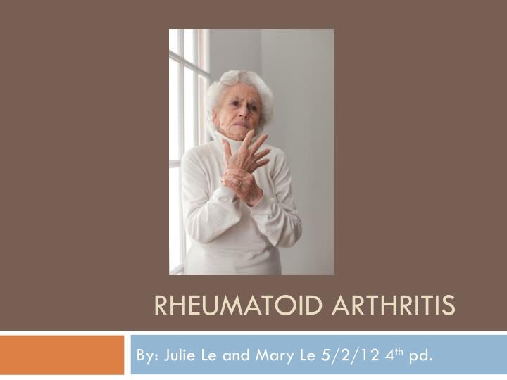 rheumatoid arthritis n.