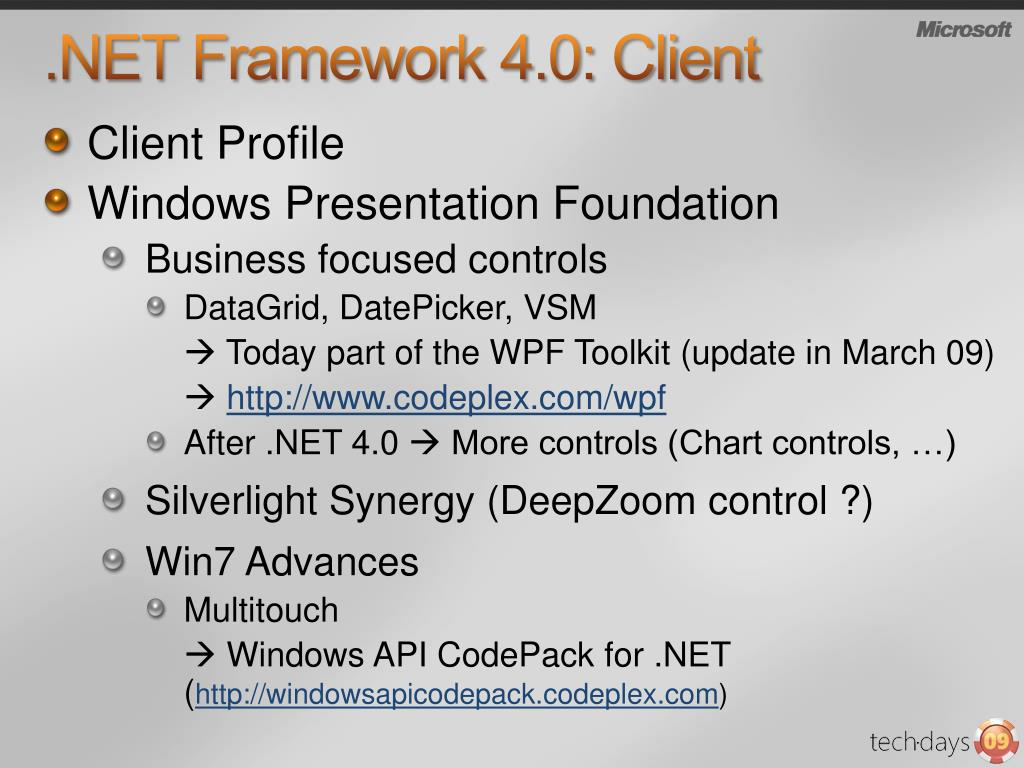 PPT   Overview Visual Studio 220 and .NET Framework 220.20 PowerPoint ...