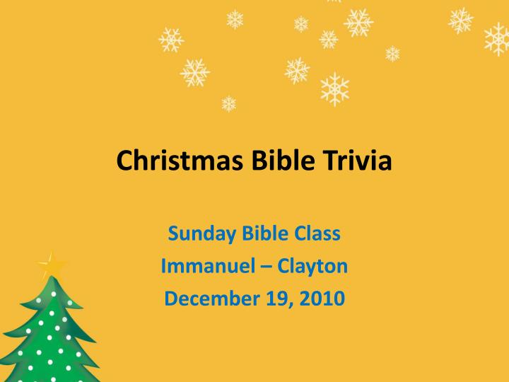Christmas Bible Trivia.Ppt Christmas Bible Trivia Powerpoint Presentation Id