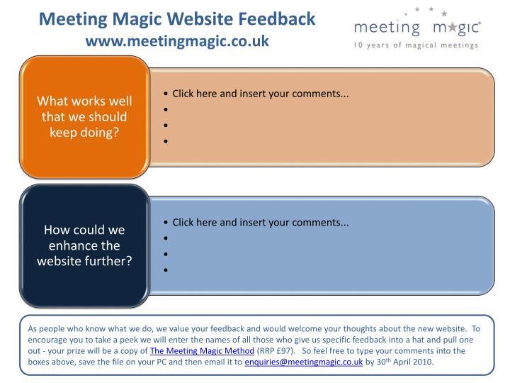 Meeting Magic Website Feedback