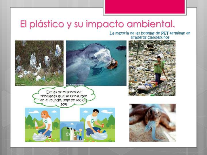 El plástico y su impacto ambiental.