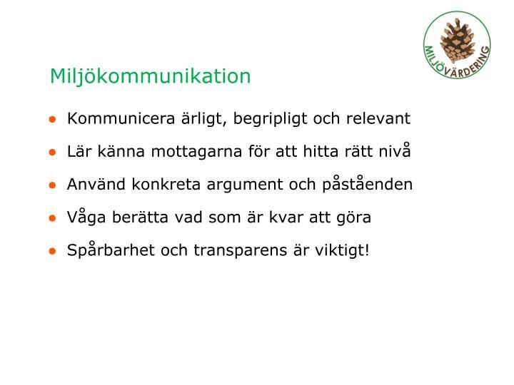 Miljökommunikation