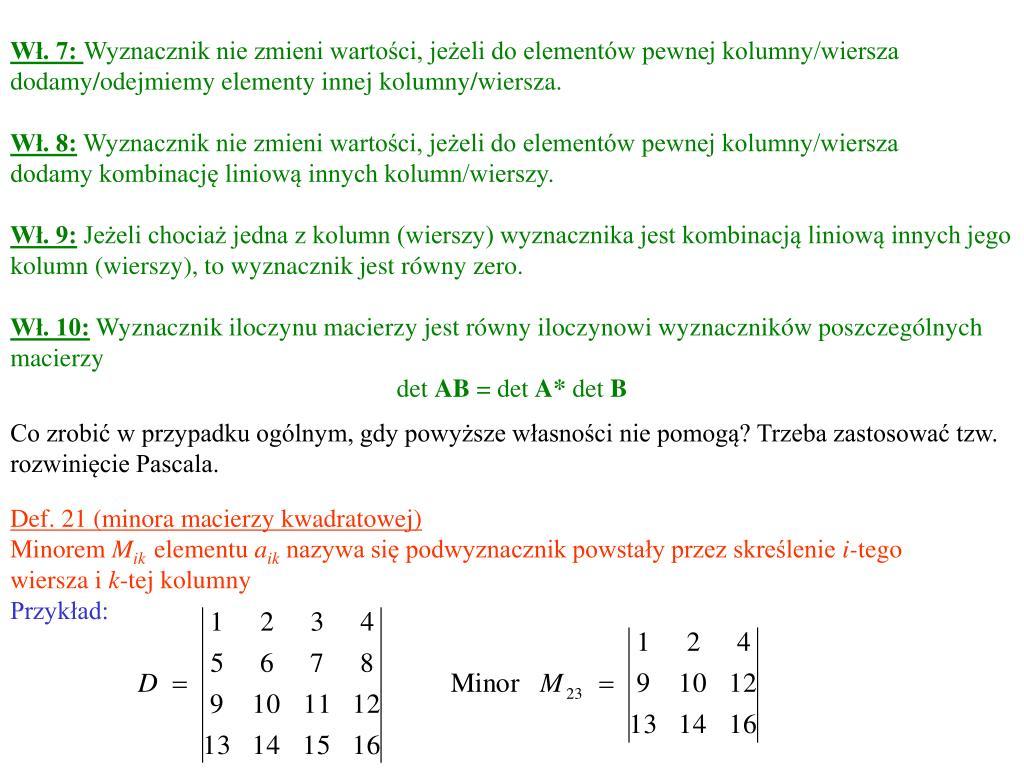 Ppt Matematyka Architektura I Urbanistyka Semestr 1