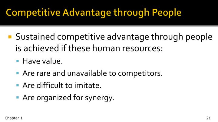 Competitive Advantage through People
