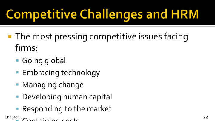 Competitive Challenges and HRM