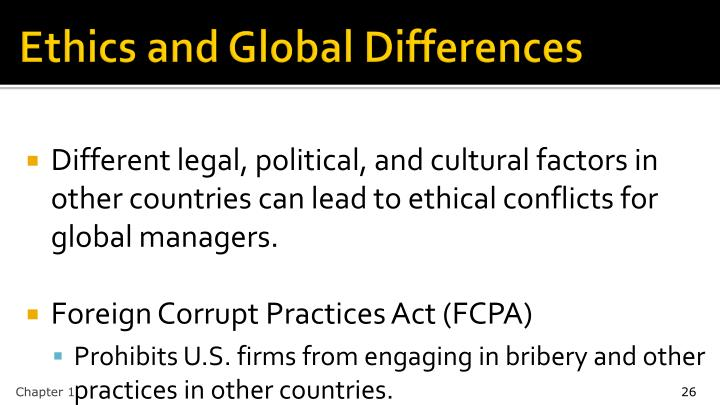 Ethics and Global Differences