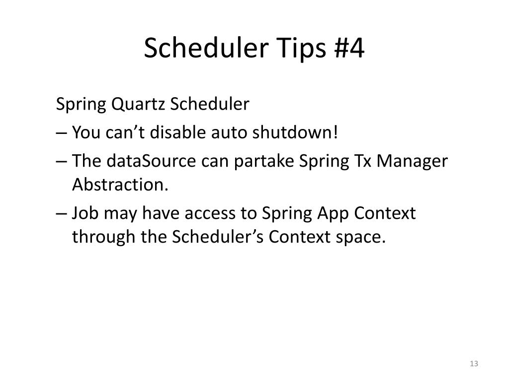 PPT - Exploring Quartz Scheduler quartz-scheduler PowerPoint