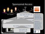 sponsored access